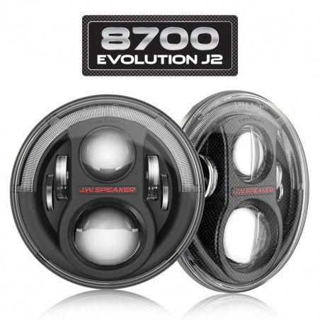 * Phares LED Jeep Wrangler TJ & JK , J.W. Speaker 8700 Evolution J2 norme France / CEE (paire)