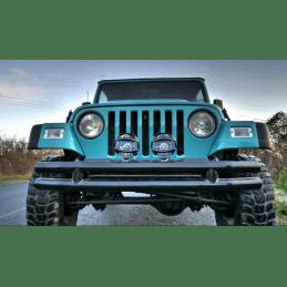 Pare-choc Jeep Wrangler de 1987 à 2006 ,  Avant , Noir, Tube double
