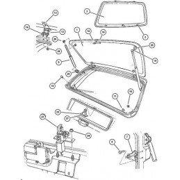 Lunette de hayon ouvrante / Vitre arrière ouvrante Jeep Grand-Cherokee ZJ 1996-1998 OCCASION // 55154926-OCC