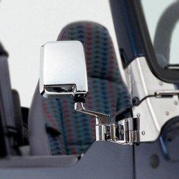 Kit de Rétroviseurs chromés - D + G - montage sur charnières de portes Jeep Wrangler YJ - TJ 1987-2006 // 82200834CK