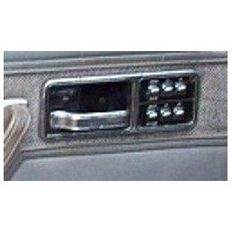 Module interrupteurs vitres + fermeture centralisée porte chauffeur / Chromé - Jeep Cherokee XJ 1984-1992 // 55002132