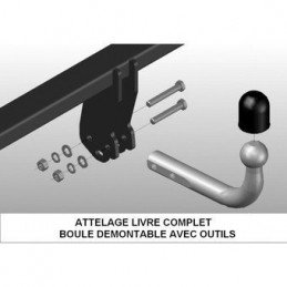 Attelage Jeep Grand-Cherokee WJ 1999-2004 - 3500 Kg, BOULE DÉMONTABLE AVEC OUTILS - Norme CE Made in Europe // BG1157