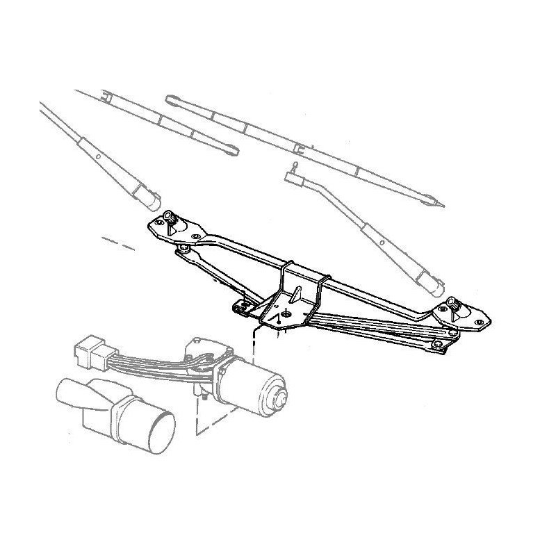 Mécanisme Essuie-glace Avant - Jeep Cherokee XJ 1984-1993 - OCCASION // 83500660-OCC