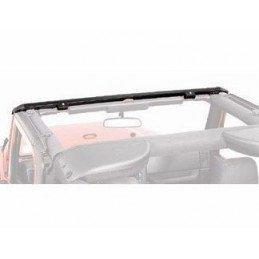 Rail de baie de pare-brise Jeep Wrangler TJ 1997-2006 - pour bâche (montage SANS perçage) //RT26066