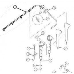 Faisceau de tuyaux retour complet injecteur gasoil - Jeep Cherokee-Liberty KJ 2.5L 2.8L CRD 2003-2007 // 5093923AA