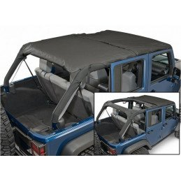 Bâche Bikini convertible 2 - 4 places - Black Diamond Jeep Wrangler JK 2007-2013 4 portes // CB30135