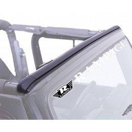 Rail avant sur baie de pare-brise Jeep Wrangler JK 2007-2013 (2 ou 4 portes) pour montage sans perçage bâche Bikini // RT26067