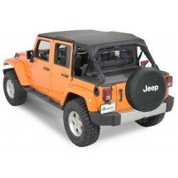 Kit 4 pièces : Bâche safari + Coupe-vent + Couvre benne 4 places Jeep Wrangler JK 2007-2013 4 portes // 11022.9144