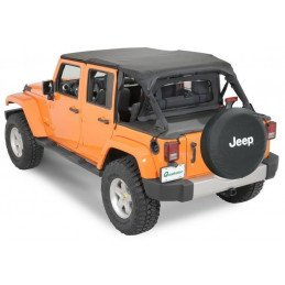 Kit Bâches (x3) Jeep Wrangler JK 2007-2013 4 portes - Bâche safari + Coupe-vent + Couvre benne 4 places // 11022.9144