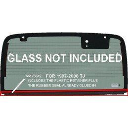 Joint de bas de lunette arrière ( horizontal, entre lunette et ridelle) Jeep Wrangler TJ 1997-2005 // MOP-55175042
