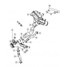 Thermostat avec boîtier Jeep Wrangler JK 2007-2010 2.8L CRD // 68027612AA