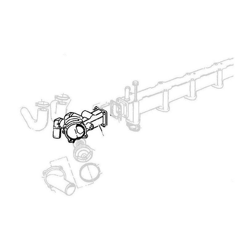 Boîtier de thermostat 2.5L & 3.1L VM diesel 1994-2001 Jeep Cherokee & Grand-cherokee 1995-2001 // 90112053-04778974AB