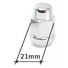 Écrou de Roue Chromé 21mm -...