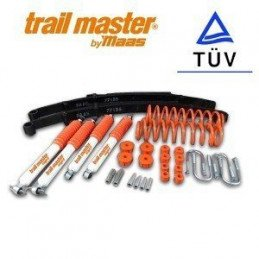 Kit rehausse +50mm avec 4x amortisseurs + 2x lames + 2x ressorts + accessoires TRAIL MASTER - Jeep Cherokee XJ 84-01 // S08279