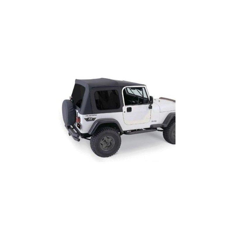 Bâche Jeep Wrangler YJ, Noir, Vitres teintées