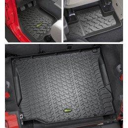 Kit Tapis de sol caoutchouc 5 pièces - Jeep Wrangler JK 2007-2010 - 2 portes sans caisson de basses // 14254.0320