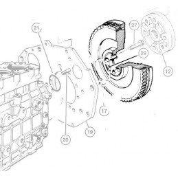 Volant moteur 113 dents OCCASION Jeep Cherokee XJ 2.5L Diesel 96-01 - Grand-Cherokee ZJ 2.5L Diesel 1996-2001 // 4883426AA-OCC