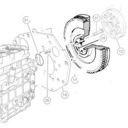 Volant moteur 136 dents OCCASION Jeep Cherokee XJ 2.5L Diesel - Grand-Cherokee ZJ 2.5L Diesel 1995-1996 // 4897251AA-OCC