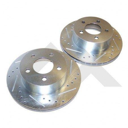 * 2x Disques de frein avant Performance / Jeep Wrangler TJ 97-99 / YJ 90-95 / ZJ 93-98 /Cherokee XJ 90-99// RT31002