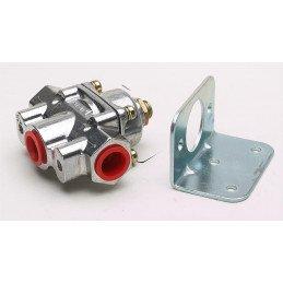 Régulateur de pression Holley 0.3 Bars + équerre - Jeep Wrangler YJ 4.2L 1987-90 / CJ 3.8L, 4.2L 1972-86 // HLY12-804