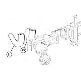 Durite boîtier thermostat 2.5L 3.1L VM diesel 1994-2001 - Jeep Cherokee XJ Grand Cherokee ZJ-WJ // 4778977