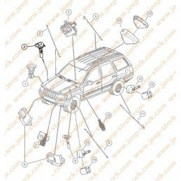 Capteur niveau vase expansion Jeep Grand Cherokee WJ 2002-2004 2.7LCRD // 52079881AA