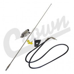 Kit antenne chromée embase, câble, fouet, fixations Jeep Wrangler YJ 1994-1995 / CJ 1975-1986// 8127842K