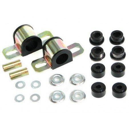 Kit silent-blocs barre stabilisatrice/antiroulis Avant - 24mm - Polyuréthane renforcé - Jeep Cherokee XJ 84-01 // KJ05004BK
