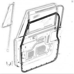 Joint de porte Droit Jeep Wrangler YJ 1987-1995 / Jeep CJ 1976-1986 - Joint pour porte en tôle avec vitre en verre // 55176222