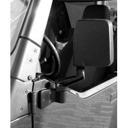 Rétroviseur noir gauche - montage sur charnière de porte Jeep Wrangler YJ - TJ 1987-2006 // 82201773