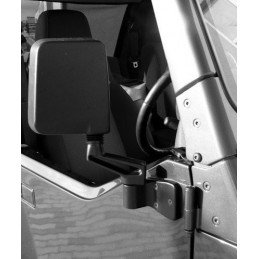 Rétroviseur noir droit - montage sur charnière de porte Jeep Wrangler YJ - TJ 1987-2006 // 82201772