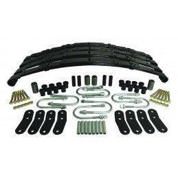 Pack complet lames de suspension avant et arrières renforcées - rehausse 35 mm / Jeep Wrangler YJ 87-95 // LSK4-JS