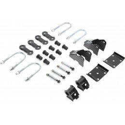 Kit Fixation Lames de suspension - Jumelles + Brides + Silent-blocs - Pont ARRIERE Dana 35C - Jeep Wrangler YJ 87-95 //52006421K