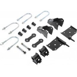 Kit Fixation Lames de suspension - Jumelles + Brides + Silent-blocs - Pont AVANT - Jeep Wrangler YJ 1987-1995 // 52040407K