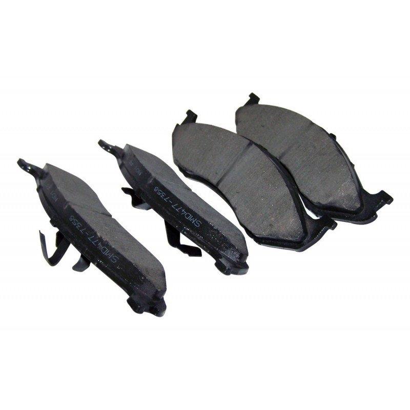 Plaquettes (x4) frein avant renforcées Titanium Jeep Wrangler TJ 97-06 & YJ 90-95 / XJ 90-01 / ZJ 93-98 -- 4778058TI