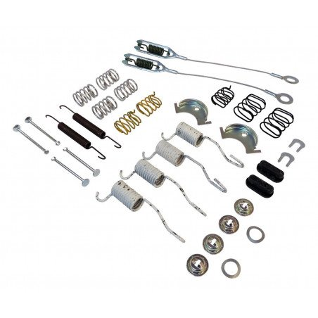 Kit ressorts + câbles de freins AR tambour 9 pouces (230 mm) / Jeep Wrangler YJ 90-95 / TJ 90-06 / Cherokee XJ 90-01