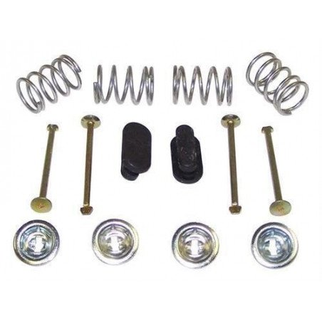 Kit fixation mâchoires freins tambours 9 po (230mm) ressorts-clips-bouchons / Jeep Wrangler YJ-TJ 90-06 / Cherokee XJ 90-01