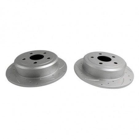 Disques de frein arrière x2 - Performance rainurés et percés - diamètre 302 mm / Jeep Wrangler JK 2007-2017 // RT31026
