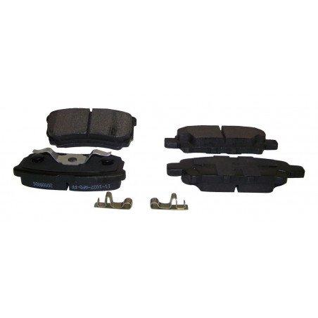 Jeu Plaquettes (x4) frein arrière semi-métalliques pour disques 262 mm / Jeep Compass MK 2007-2017 // 5191271AB
