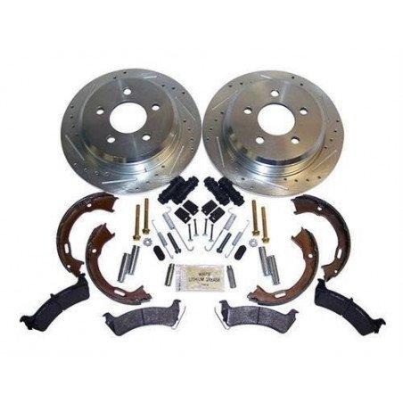 Kit Disques frein arrière performance x2 + plaquettes + mâchoires + accessoires / Jeep Grand Cherokee 1994-1998 // RT31033