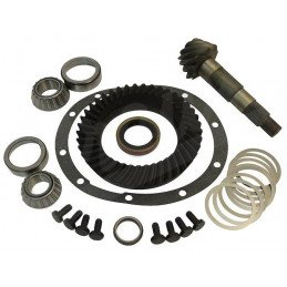 Couple conique - Couronne + Pignon, Ratio 4.56 (Optionnel) - Pont Dana 35C - Jeep Wrangler, Cherokee, Grand Cherokee