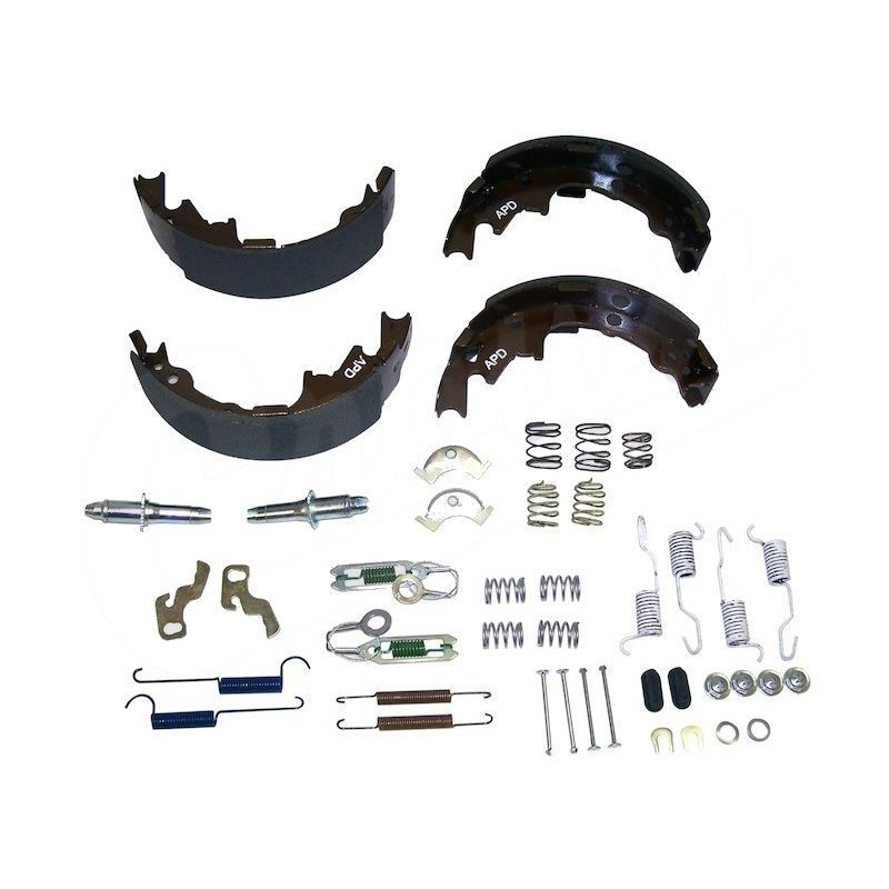 Kit freins arrière pour tambour 9 pouces / 230 mm Jeep Wrangler TJ 00-05 / Cherokee XJ 00-01 - Mâchoires + acc. - 5019536MK