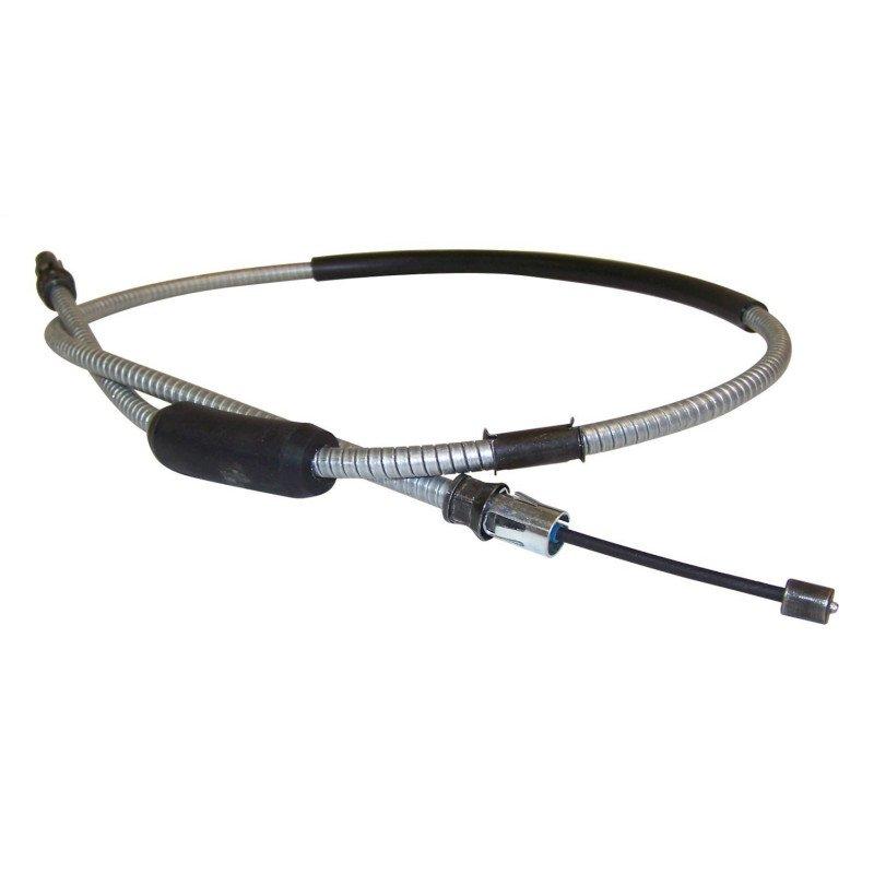 Câble de frein à main avant Jeep Wrangler YJ 1991-1995, situé entre la pédale et le tendeur -- 52007048