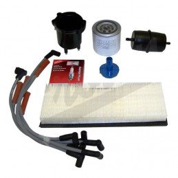 Kit entretien moteur Jeep Wrangler YJ 2.5L 87-90 - Allumage, tête doigt Delco, câbles bougies, filtre air, huile, carburant