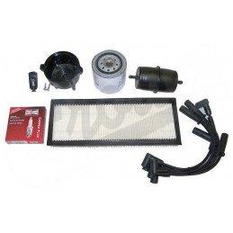 Kit entretien moteur Jeep Wrangler YJ 2.5L 91-93 (Filtre pouces) -Allumage, tête Delco, cables, bougies, filtre air huile
