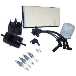 Kit entretien moteur Jeep Cherokee XJ  2.5L 91-93 (Filtre pouces) -Allumage, tête doigt Delco, Câbles, bougies, filtre air huile