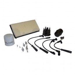 Kit entretien moteur Jeep Cherokee XJ  2.5L 91-93 (Filtre métrique) -Allumage, tête doigt delco, cables, bougies, filtre air