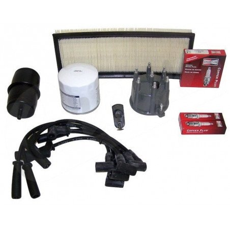 Kit entretien moteur Jeep Wrangler YJ 4.0L 91- 93 - Allumage, tête delco, câbles, bougie, filtre air huile carburant // TK2