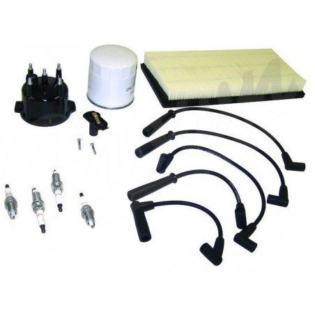 Kit entretien moteur Jeep Cherokee XJ 2.5L 99- 00 - Allumage, tête delco, cables bougie, filtre à air, filtre à huile // TK22