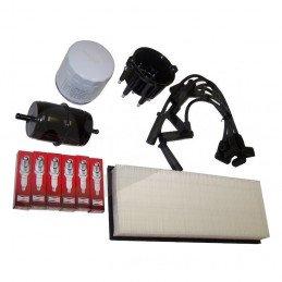 Kit entretien moteur Jeep Wrangler YJ 4.0L 94-95 - Allumage, tête, doigt, fils, bougies, filtre air, huile, carburant // TK3